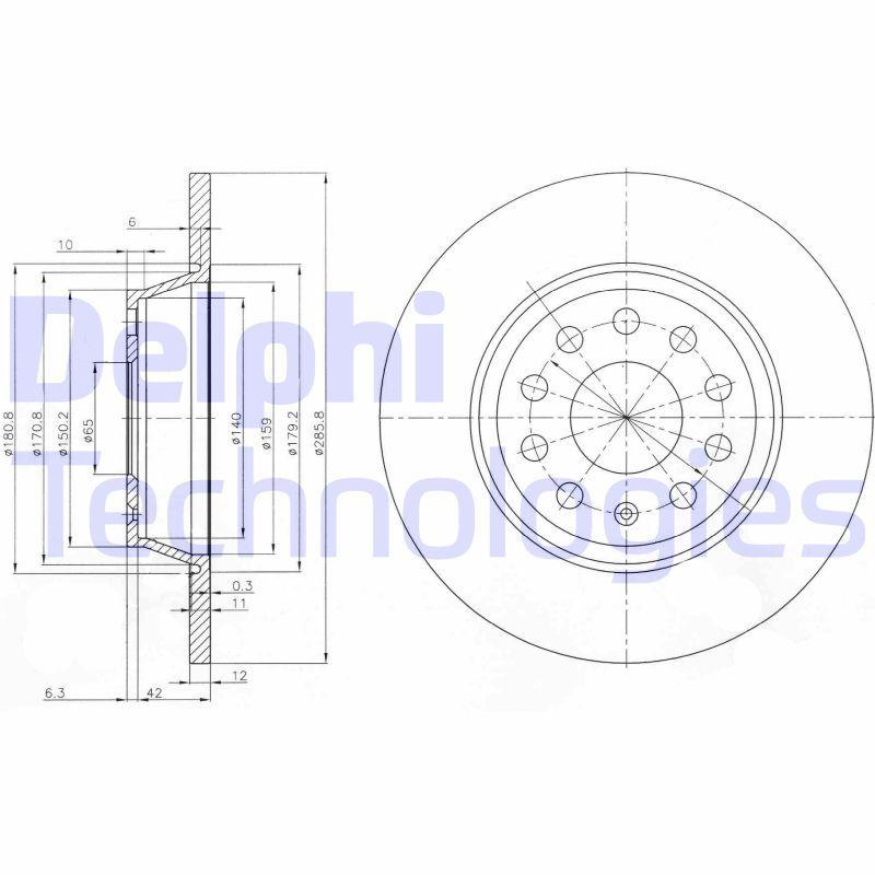 Artikelnummer BG3954C DELPHI Preise