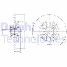 DELPHI  BG9116RSC Bremsscheibe Bremsscheibendicke: 9mm, Lochanzahl: 4, Ø: 249mm