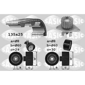 Water pump and timing belt kit with OEM Number 16 107 933 80