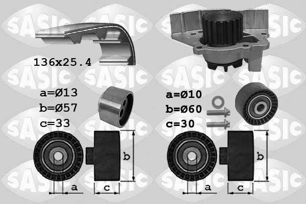 SASIC  3900033 Wasserpumpe + Zahnriemensatz