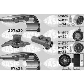 Wasserpumpe + Zahnriemensatz mit OEM-Nummer 059 121 004EX