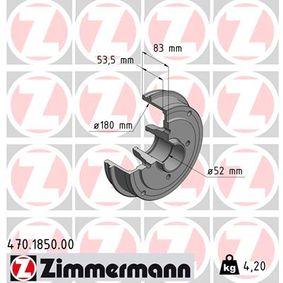 Bremstrommel mit OEM-Nummer 6001 548 126