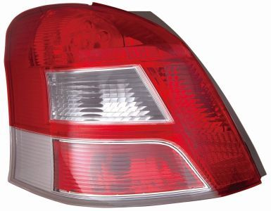 ABAKUS  212-19T3L-LD-UE Combination Rearlight Red, for left-hand drive vehicles