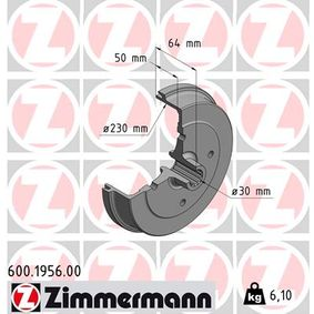 Bremstrommel Br.Tr.Durchmesser außen: 262mm, Felge: 4-loch mit OEM-Nummer 113.501.615J