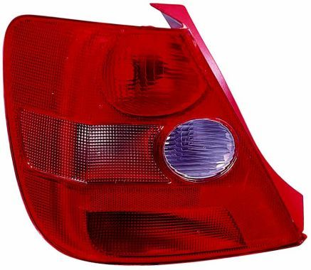 ABAKUS  217-1957L-LD-UE Combination Rearlight Red, for left-hand drive vehicles