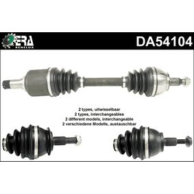 Drive Shaft Length: 584mm, Outer teething wheel side: 25 with OEM Number 169 360 83 72