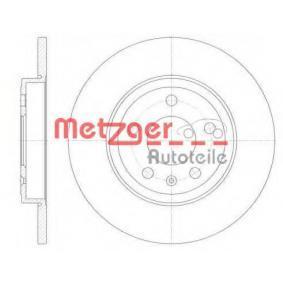 METZGER Bremsscheibe 61011.00 für AUDI A4 Cabriolet (8H7, B6, 8HE, B7) 3.2 FSI ab Baujahr 01.2006, 255 PS