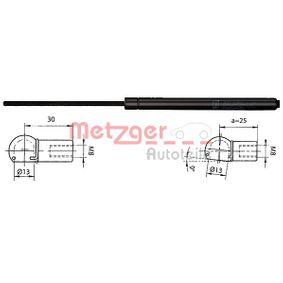 METZGER Ammortizatore pneumatico, Cofano bagagli / vano carico 2110338 con OEM Numero 9485548