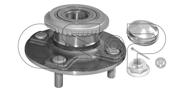 GSP Wheel Bearing Kit Rear Axle, with ABS sensor ring