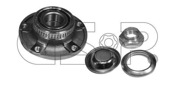 GSP Wheel Bearing Kit Front Axle, with ABS sensor ring