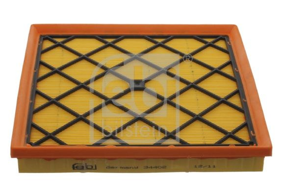 FEBI BILSTEIN  34402 Luftfilter Länge: 255,5mm, Breite: 248,5mm, Höhe: 37,5mm