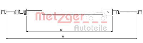 METZGER  10.4578 Cable, parking brake Length: 1545/1275mm