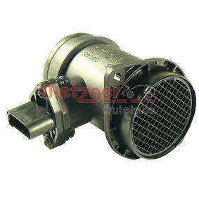 METZGER Luftmassenmesser 0890268 für AUDI A4 (8D2, B5) 1.9 TDI ab Baujahr 03.2000, 116 PS