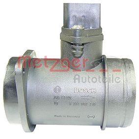 METZGER Luftmassenmesser 0891073 für AUDI A4 (8D2, B5) 1.9 TDI ab Baujahr 03.2000, 116 PS