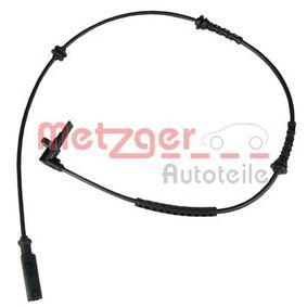 METZGER  0900403 Sensor, Raddrehzahl Länge: 850mm