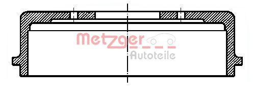 METZGER  BT 319 Bremstrommel Trommel-Ø: 228,6mm