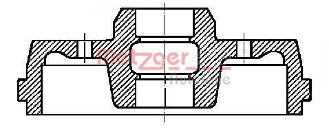 METZGER  BT 7110 Bremstrommel Trommel-Ø: 180mm