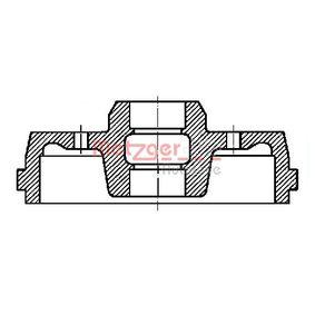 Bremstrommel Trommel-Ø: 180mm mit OEM-Nummer 191501615B