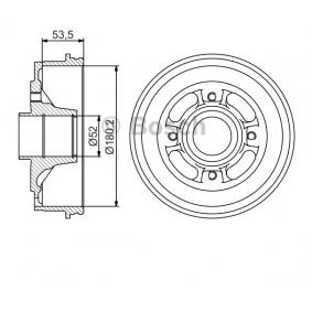Bremstrommel Br.Tr.Durchmesser außen: 208mm mit OEM-Nummer 77 00 783 030