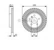 OEM Спирачен диск 0 986 479 C97 от BOSCH за MINI