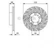 OEM Спирачен диск 0 986 479 D25 от BOSCH за PORSCHE