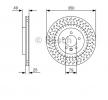 OEM Спирачен диск 0 986 479 D31 от BOSCH за LAND ROVER