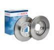 BOSCH Комплект спирачни дискове SSANGYONG вентилиран, вътрешновентилиран, омаслен