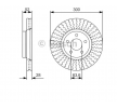OEM Спирачен диск 0 986 479 D38 от BOSCH за FORD