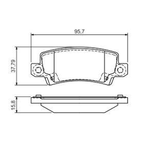 Bremsbelagsatz, Scheibenbremse Breite: 95,7mm, Höhe: 37,8mm, Dicke/Stärke: 15,8mm mit OEM-Nummer 4466-02020