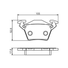 Bremsbelagsatz, Scheibenbremse Breite: 105mm, Höhe: 52,8mm, Dicke/Stärke: 17,8mm mit OEM-Nummer A0004214210