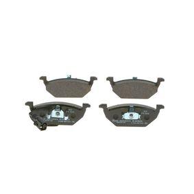 Комплект спирачно феродо, дискови спирачки 0 986 495 213 Golf 5 (1K1) 1.9 TDI Г.П. 2006