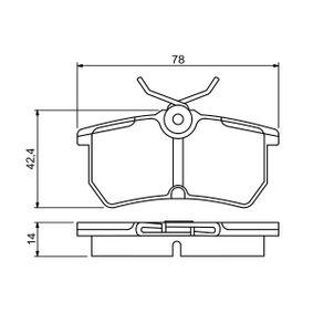 Bremsbelagsatz, Scheibenbremse Breite: 87,9mm, Höhe: 42,4mm, Dicke/Stärke: 14mm mit OEM-Nummer 1 848 556