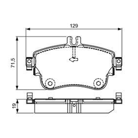 Bremsbelagsatz, Scheibenbremse Breite: 129mm, Höhe: 71,5mm, Dicke/Stärke: 19mm mit OEM-Nummer A0084200420