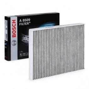 Filter, Innenraumluft Länge: 280mm, Breite: 206mm, Höhe: 30mm mit OEM-Nummer JZW 819 653