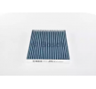 Cabin filter BOSCH A8524 FILTER+, Charcoal Filter, Particulate filter (PM 2.5), with anti-allergic effect, with antibacterial action