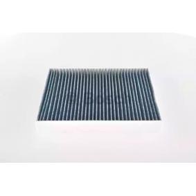 Filter, Innenraumluft Länge: 267mm, Breite: 234mm, Höhe: 30mm mit OEM-Nummer 132 114 731