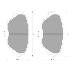 Brake Pad Set, disc brake 0 986 AB2 383 RAV 4 II (CLA2_, XA2_, ZCA2_, ACA2_) 2.0 MY 2001