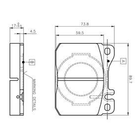 Bremsbelagsatz, Scheibenbremse Breite: 89,7mm, Höhe: 73,8mm, Dicke/Stärke: 17,5mm mit OEM-Nummer 0014209920