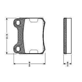 Bremsbelagsatz, Scheibenbremse Breite: 61,7mm, Höhe: 54,3mm, Dicke/Stärke: 13,5mm mit OEM-Nummer A0004208820