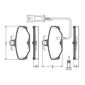 Bremsbelagsatz, Scheibenbremse Breite: 89,8mm, Höhe: 54mm, Dicke/Stärke: 13,5mm mit OEM-Nummer 6185119