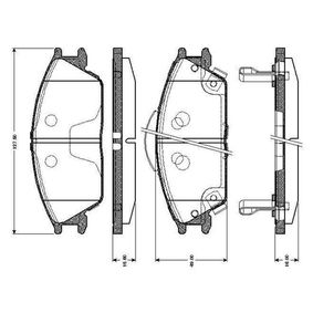 Bremsbelagsatz, Scheibenbremse Breite: 127,5mm, Höhe: 49,1mm, Dicke/Stärke 1: 15,6mm, Dicke/Stärke: 16mm mit OEM-Nummer 58101 1CA10