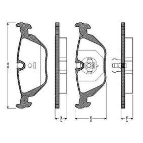 Bremsbelagsatz, Scheibenbremse Breite: 123,1mm, Höhe: 44,9mm, Dicke/Stärke: 17mm mit OEM-Nummer 3421 1164 501