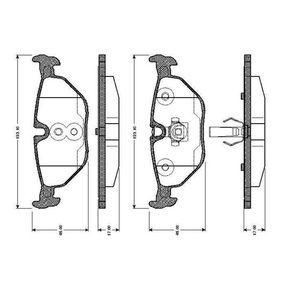 Bremsbelagsatz, Scheibenbremse Breite: 123,1mm, Höhe: 44,9mm, Dicke/Stärke: 17mm mit OEM-Nummer 34211164501