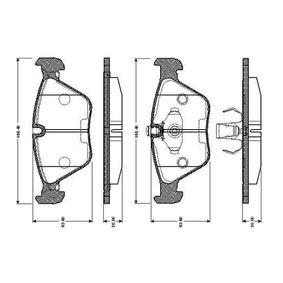 Bremsbelagsatz, Scheibenbremse Breite 1: 155,4mm, Breite: 156,4mm, Höhe: 63,6mm, Dicke/Stärke: 20mm mit OEM-Nummer 34111164331