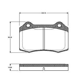 Bremsbelagsatz, Scheibenbremse Breite: 109,7mm, Höhe: 69,3mm, Dicke/Stärke: 14,8mm mit OEM-Nummer 3068385-8