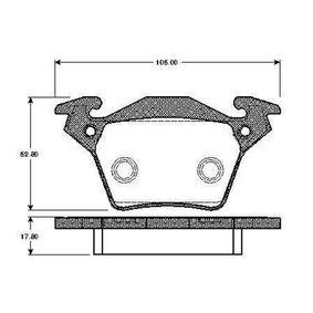 Bremsbelagsatz, Scheibenbremse Breite: 105mm, Höhe: 52,8mm, Dicke/Stärke: 17,8mm mit OEM-Nummer A 000 421 42 10