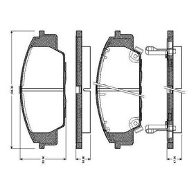 Brake Pad Set, disc brake Width: 135,3mm, Height: 52,5mm, Thickness 1: 17mm, Thickness: 16,6mm with OEM Number 45022-S2A-E50