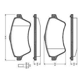 Bremsbelagsatz, Scheibenbremse Breite: 131,6mm, Höhe: 62,2mm, Dicke/Stärke: 18,2mm mit OEM-Nummer 23615