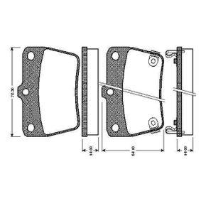 Brake Pad Set, disc brake 0 986 TB2 406 RAV 4 II (CLA2_, XA2_, ZCA2_, ACA2_) 2.0 MY 2003