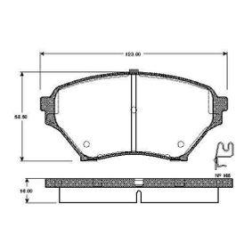 Bremsbelagsatz, Scheibenbremse Breite: 123mm, Höhe: 58,5mm, Dicke/Stärke: 16mm mit OEM-Nummer N0Y9-3323Z